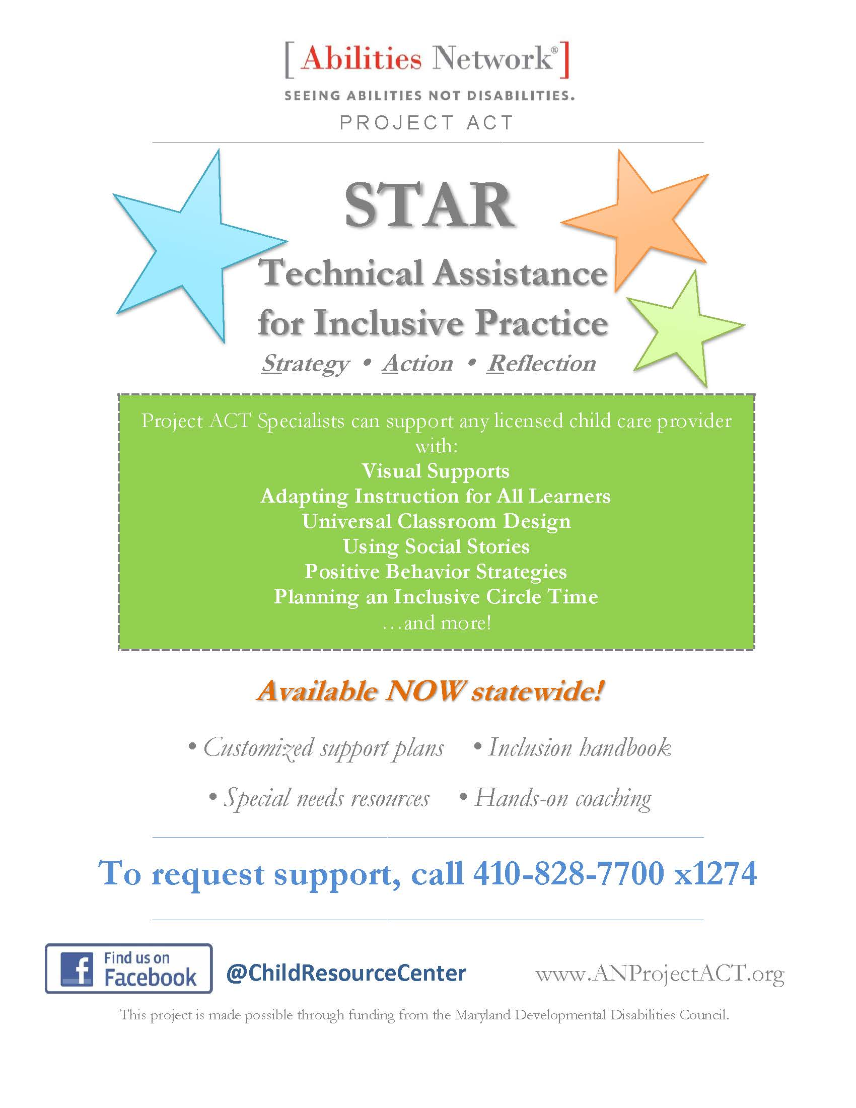 Project Act Star Ta Flyer 1