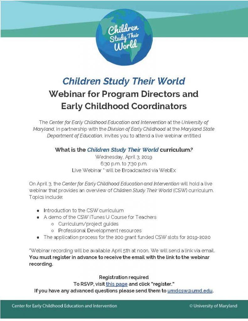 Csw Live Webinar Flyer
